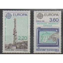 French Andorra - 1988 - Nb 369/370 - Telecommunications - Europa