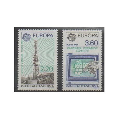 Andorre - 1988 - No 369/370 - Télécommunications - Europa