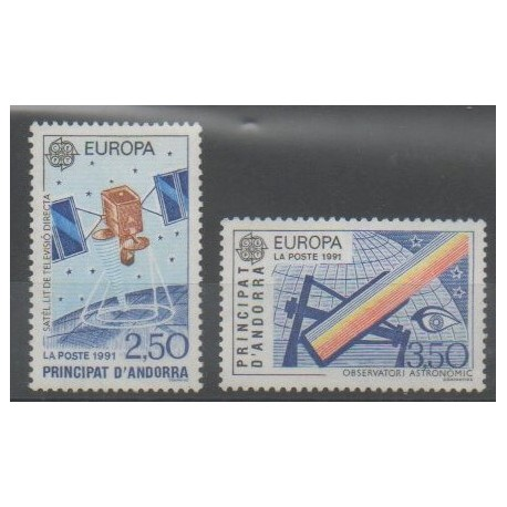 French Andorra - 1991 - Nb 402/403 - Space - Europa