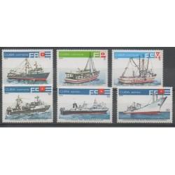 Cuba - 1978 - Nb 2073/2076 - PA298/PA299 - Boats