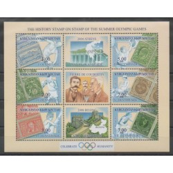 Kyrgyzstan - 2002 - Nb 189/194 - Summer Olympics - Stamps on stamps