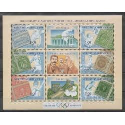 Kirghizistan - 2002 - No 189/194 - Jeux Olympiques d'été - Timbres sur timbres