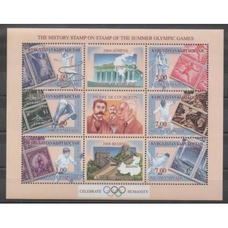 Kirghizistan - 2002 - No 195/200 - Jeux Olympiques d'été - Timbres sur timbres