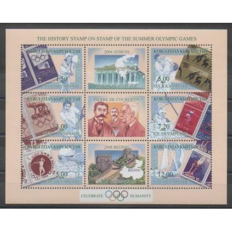 Kirghizistan - 2002 - No 201/206 - Jeux Olympiques d'été - Timbres sur timbres
