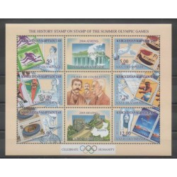 Kyrgyzstan - 2002 - Nb 207/212 - Summer Olympics - Stamps on stamps