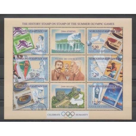 Kirghizistan - 2002 - No 207/212 - Jeux Olympiques d'été - Timbres sur timbres