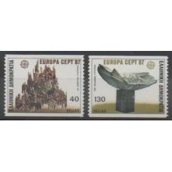 Grèce - 1987 - No 1634/1635 - Art - Europa
