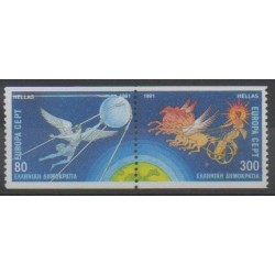 Greece - 1991 - Nb 1765/1766 - Space - Europa
