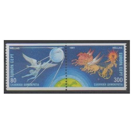Grèce - 1991 - No 1765/1766 - Espace - Europa