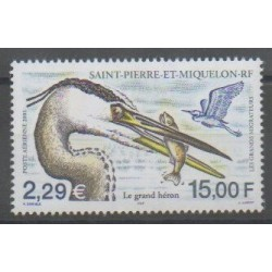 Saint-Pierre and Miquelon - Airmail - 2001 - Nb PA81 - Birds