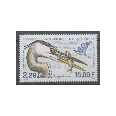 Saint-Pierre et Miquelon - Poste aérienne - 2001 - No PA81 - Oiseaux