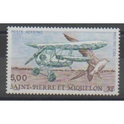 Saint-Pierre and Miquelon - Airmail - 1990 - Nb PA69 - Planes - Birds