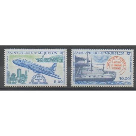 Saint-Pierre et Miquelon - Poste aérienne - 1987 - No PA64/PA65 - Aviation