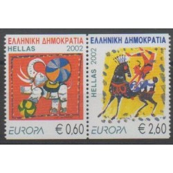 Greece - 2002 - Nb 2096/2097 - Circus - Europa
