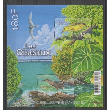 Polynésie - Blocs et feuillets - 2016 - No BF45 - Oiseaux