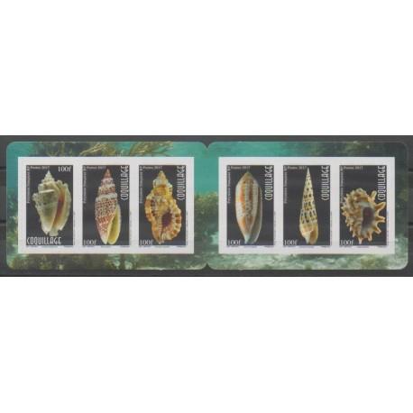 Polynésie - 2017 - No 1139/1144 - Carnet autoadhésif - Animaux marins