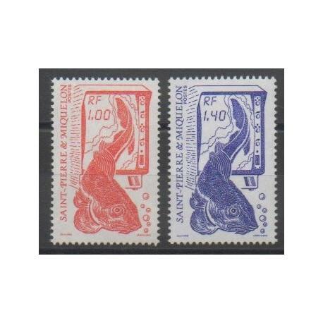 Saint-Pierre et Miquelon - 1986 - No 472/473 - Animaux marins