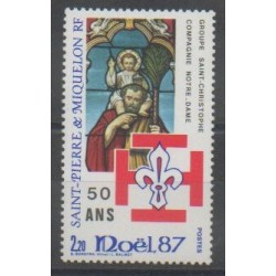 Saint-Pierre and Miquelon - 1987 - Nb 483 - Christmas - Scouts