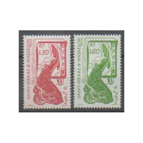 Saint-Pierre et Miquelon - 1988 - No 490/491 - Animaux marins