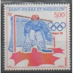 Saint-Pierre et Miquelon - 1988 - No 487 - Jeux olympiques d'hiver