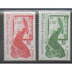 Saint-Pierre et Miquelon - 1989 - No 502/503 - Animaux marins