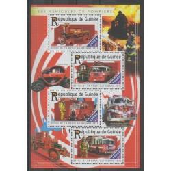 Guinea - 2015 - Nb 7758/7761 - Firemen