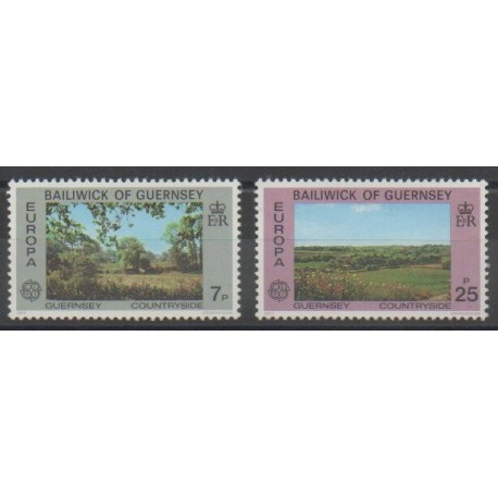 Guernesey - 1977 - No 142/143 - Sites - Europa