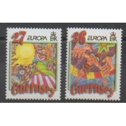 Guernesey - 2002 - No 929/930 - Cirque - Europa