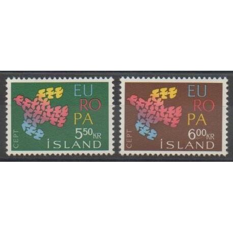 Islande - 1961 - No 311/312 - Europa