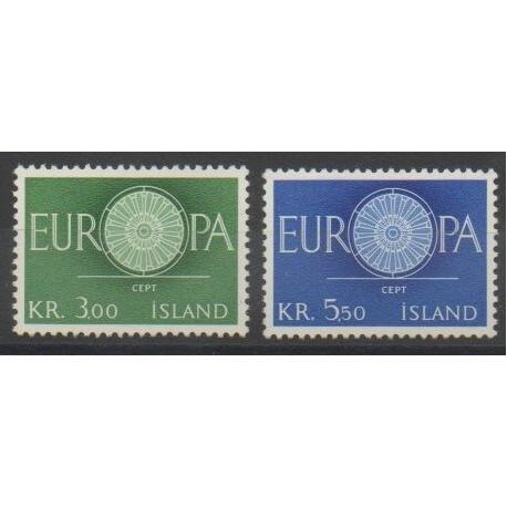 Islande - 1960 - No 301/302 - Europa