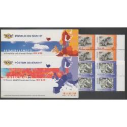 Islande - 1997 - No C825/C826 - Littérature - Europa