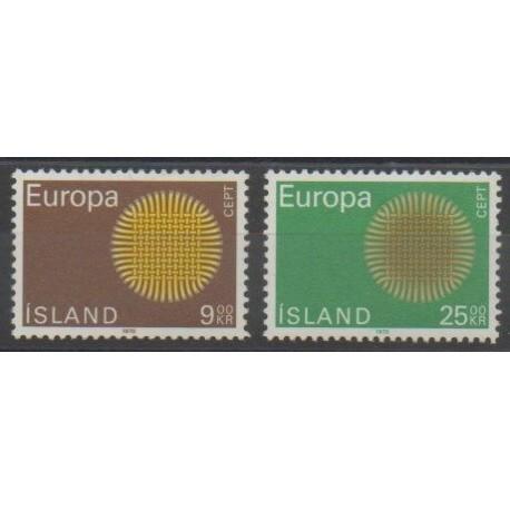 Islande - 1970 - No 395/396 - Europa