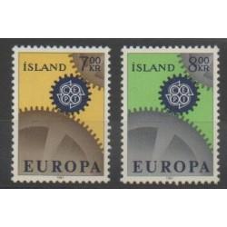 Islande - 1967 - No 364/365 - Europa
