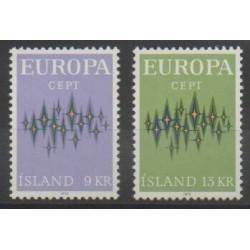 Islande - 1972 - No 414/415 - Europa