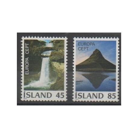 Islande - 1977 - No 475/476 - Sites - Europa