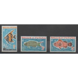 Wallis et Futuna - 1963 - No T37/T39 - Animaux marins