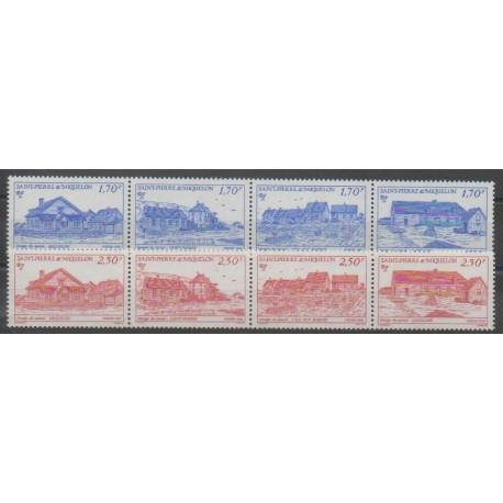 Saint-Pierre et Miquelon - 1991 - No 537/544 - Sites