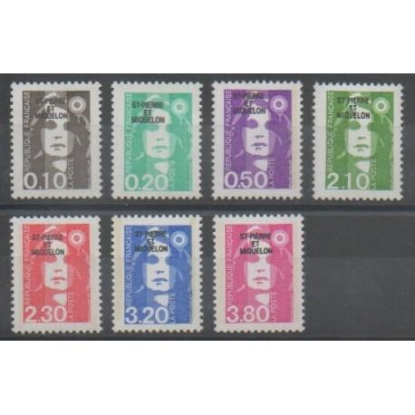 Saint-Pierre et Miquelon - 1990 - No 514/520