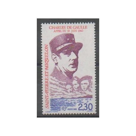 Saint-Pierre et Miquelon - 1990 - No 521 - De Gaulle