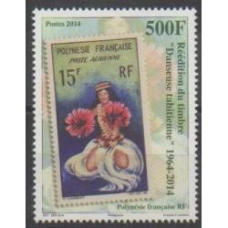 Polynésie - 2014 - No 1077 - Timbres sur timbres