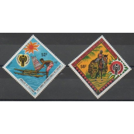 Wallis et Futuna - 1979 - No 232/233 - Enfance