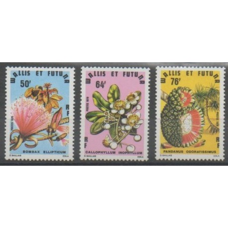 Wallis et Futuna - 1979 - No 234/236 - Fleurs