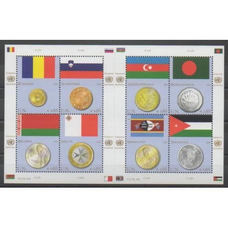 Nations Unies (ONU - Vienne) - 2010 - No 641/648 - Drapeaux - Monnaies, billets ou médailles