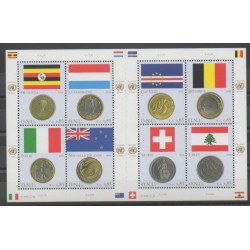 United Nations (UN - Geneva) - 2006 - Nb 564/571 - Flags - Coins, Banknotes Or Medals