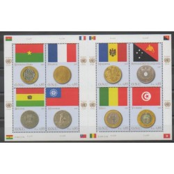 United Nations (UN - Geneva) - 2007 - Nb 576/585 - Flags - Coins, Banknotes Or Medals