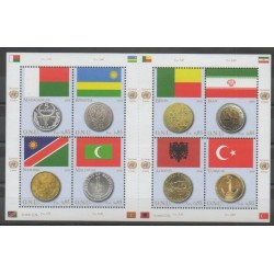 United Nations (UN - Geneva) - 2008 - Nb 602/609 - Flags - Coins, Banknotes Or Medals