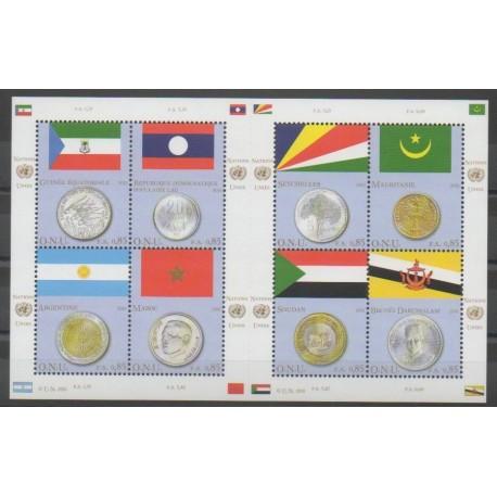 Nations Unies (ONU - Genève) - 2010 - No 682/689 - Drapeaux - Monnaies, billets ou médailles