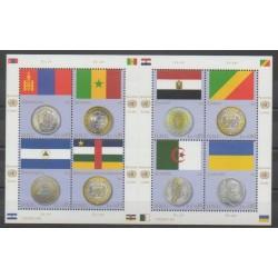 Nations Unies (ONU - Genève) - 2011 - No 752/759 - Drapeaux - Monnaies, billets ou médailles
