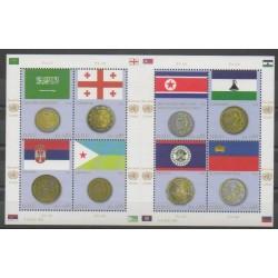 Nations Unies (ONU - Genève) - 2012 - No 787/794 - Drapeaux - Monnaies, billets ou médailles