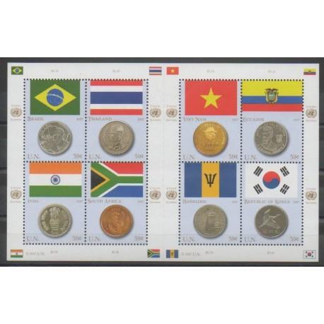 Nations Unies (ONU - New-York) - 2007 - No 1028/1035 - Drapeaux - Monnaies, billets ou médailles